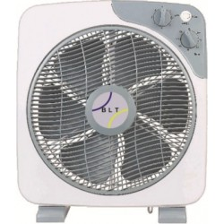 Ventilateur BLT Plat carré + grille rotative (Box Fan) 30 cm