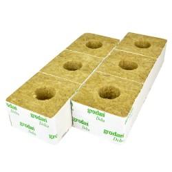 Grodan Cubes laine de roche 10x10x6.5cm